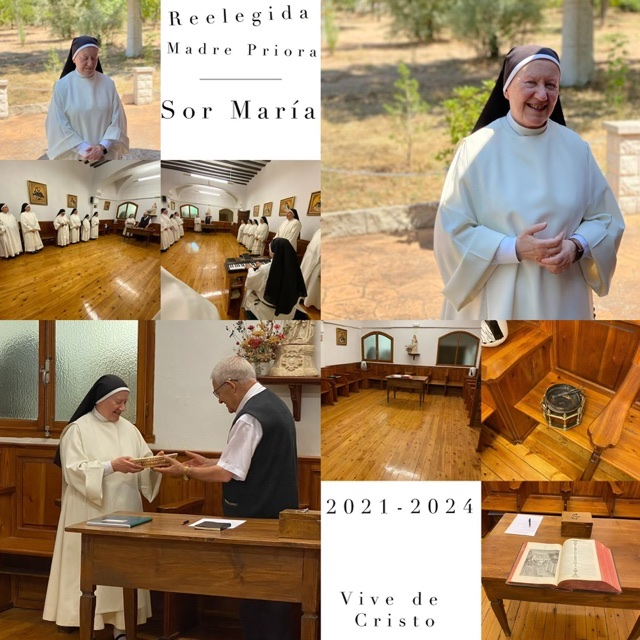 Sor María - Reelegida Priora 2021-2024