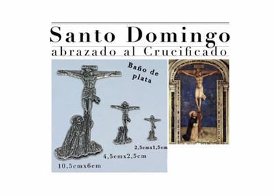 Santo Domingo abrazado al crucificado